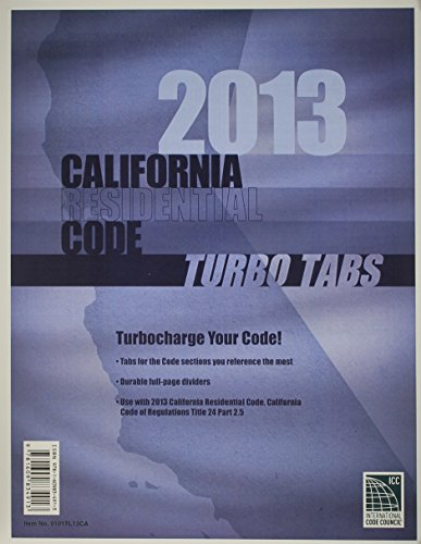 Turbo Tabs: 2013 CA Residential Code Title 24 Part 2.5 (2013 Gebäude-codes)