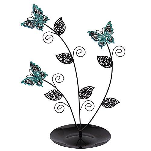 Discoball Arbre à boucle d'oreille et bijoux Bleu papillon