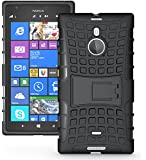 JAMMYLIZARD | Alligator Heavy Duty TPU Outdoor Case Hülle für Nokia Lumia 1520, SCHWARZ