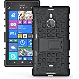 JAMMYLIZARD | Alligator Heavy Duty TPU Outdoor Case Hülle für Nokia Lumia 1520, SCHWARZ