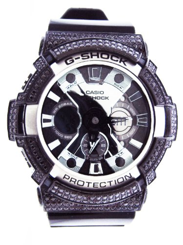 Casio G Shock Men Full black Cz Analog-Digital Black Resin Strap 53m GA200BW-1A