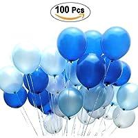 PuTwo Luftballons 12 Zoll 100 Stück Dekoration von festen Luftballons glonflables rund