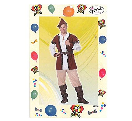 Herrenkostüm, Robin, 5-tlg Hemd, Hose, Hut, Gürtel und Gamaschen König der Diebe (56)