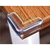 #4: CHRONEX (Pack of 4PCS) CLEAR CORNER PROTECTORS | High Resistant Adhesive Gel | Best Baby Proof Corner Guards | Stop Child Head Injuries | Tables, Furniture & Sharp Corners Baby Proofing