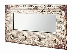Idea Regalo - Haku, Specchio da Parete con 4 Ganci Appendiabiti, Multicolore (Bunt 1)