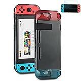 [Nintendo Schalter Schutzhülle mit Displayschutzfolie], gummierte Schutzhülle für Nintendo Schalter [Displayschutzfolie im Lieferumfang Enthalten]