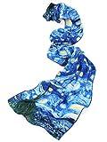 Prettystern P117-160cm Bufanda de seda Van Gogh pintura hecha a mano - Noche...