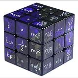 My-dym Mini Cubo mágico enseñando 3x3x3 matemáticas fórmula Velocidad Rubiks Cubo Twist Puzzle Juguetes para niños Regalo,Black