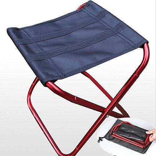 Lezed Tragbarer Aluminium Klappstuhl,Ultralight Tragbarer, kompakter Klapphocker,Sportfischerei Stuhl,stabile Qualität, Leichter Transport(Rot)