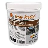 TECPINT OXIDO de Tecno Prodist - 500 ml - Pasivador de óxido al agua - protección anticorrosiva para armaduras - convertidor y transformador de oxido para superficies de hierro y acero