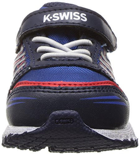 K-Swiss X-160 VLC Synthétique Chaussure de Course Navy-Classic blue- Fiery Red