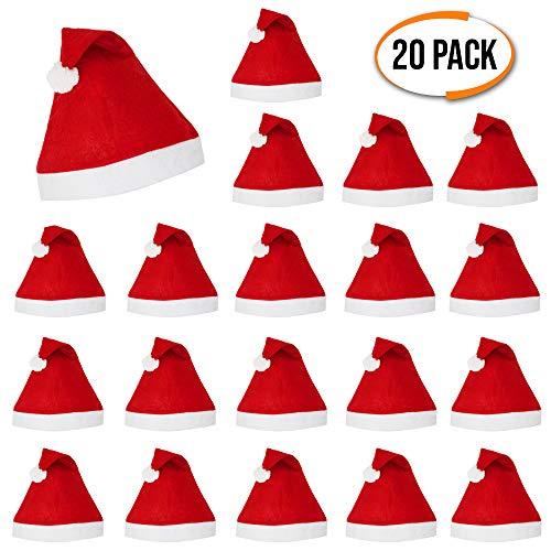 The Twiddlers Festliche Weihnachtsmütze, für Herren und Damen, sexy Hüte, 20 Stück - Perfektes für Weihnachts Santa Kostüm, Weihnachten, Weihnachtsmannkostüm, Weihnachtsmann ()