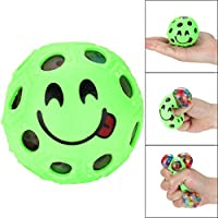 YUYOUG Stress Relief Ball, Novelty Fun Emoji Grape Ball Mesh Squishies Pressure Ball Stress Reliever Toys Magic Gift for Kids and Adults (Green)