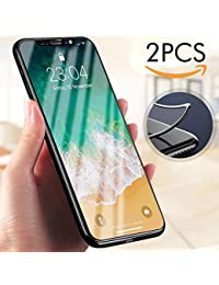 Protector de pantalla iPhone X, Ubegood Cristal iPhone X Vidrio Templado Alta-definición 3D Touch Compatibles 9H Dureza Screen Protector iPhone X Templado Protector de Pantalla - Negro