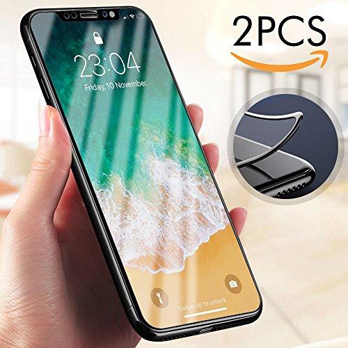 Moderner Runder Schnitt (iPhone X Panzerglas, Ubegood iPhone X Schutzfolie 3D Touch Kompatibel Displayschutzfolie 9H Härtegrad Panzerfolie Displayschutz Für iPhone X Folie - Schwarz)