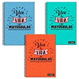 Cuaderno A4 Baggy Vive la Vida cuadriculado tapa dura surtido