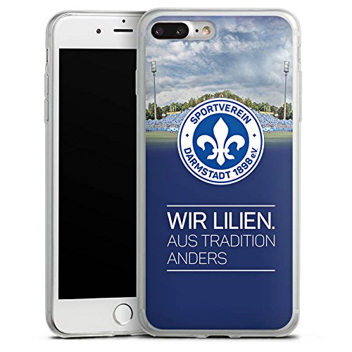 Apple iPhone 8 Plus Slim Case Silikon Hülle Schutzhülle Fußball Sport Fussball Silikon Slim Case transparent