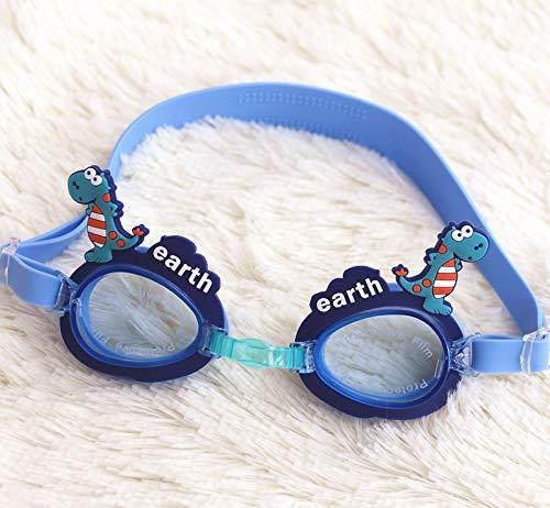 QXXNB Schwimmbrillen, Neue Kinderbrillen, Cartoon-Stil-Brillen, kleine Dinosaurier, Zäsche-Brillen, Anti-Nebel-Brillen