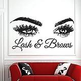 90x48cm Lash & Sourcils Citation Stickers Muraux De Mode Créative Vinyle Cils Beauté Salon Stickers Muraux Sourcils Magasin Décor