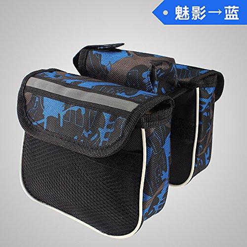 XY&GKFahrrad Tasche Tasche Tasche Vor Berg Rohr Sattel Tasche Tasche Tasche Beam Mobiltelefon vorne Fahrrad Zubehör und Ausrüstung, machen Ihre Reise angenehmer Phantom blue