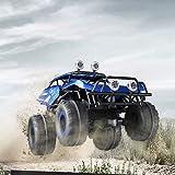 AKLDPD Voiture télécommandée, voiture RC Invincible Tornado Véhicule rechargeable de stunt rechargeable avec lumières colorées et commutateur de musique for voiture de jouet for enfants 4WD à 90 °, ro