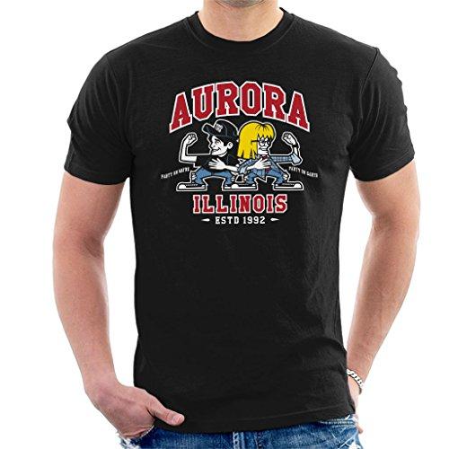 Aurora Illinois (Waynes World Party time Aurora Illinois Men's T-Shirt)