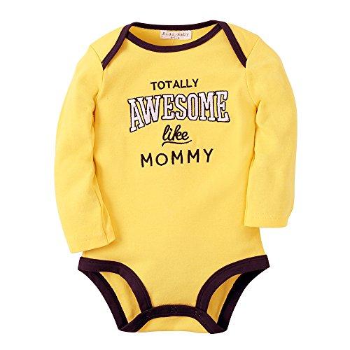 Kleidung Baumwoll Neugeborene Säugling Kleider Langen Ärmeln Bodys (12-18 Monate, R10 AWESOME) (12-18 Monat-junge Halloween-kostüme)