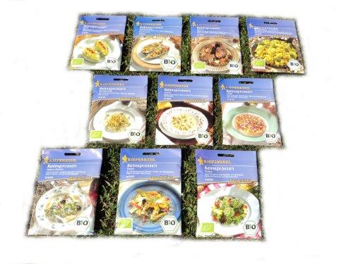 Keimsprossen-Sortiment 10 Bio Sorten -