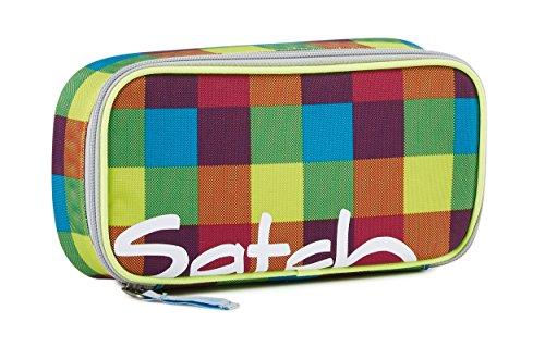 satch - Die Original Schlamperbox inklusive Geodreieck: Beach Leach (Karo Bunt)