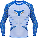 Mytra Fusion Mens & Boys PowerLayer Compression Base Layer Baselayer Top Long Sleeve Under Shirt Mens Lifa Dry Stripe Crew Men's HeatGear Long Sleeve Compression Top - Crew Neck