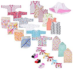 First kids Step new Born baby gift set Combo pack of 7 items which are Most usable in daily life for your Little one's Must have this combo for your newborn (0-6month)(ASSORTED)