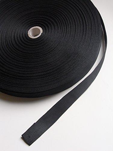 Preisvergleich Produktbild Gurtband PP,  12 Meter,  Bandbreite 25 mm,  Bandfarbe schwarz