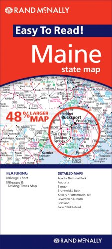 Rand McNally Easy to Read Maine State Map