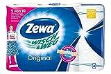 Zewa Wisch und Weg Küchenrollen Original, saugstarke Wischtücher, 1 x 4 Rollen (4 x 45 Blatt)