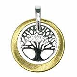 3b2c181f3eec Kiara joyas plata de ley 925 chapado en rodio Árbol de la vida colgante en  un