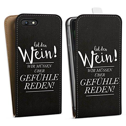 Apple iPhone X Silikon Hülle Case Schutzhülle Gefühle Liebe Sprüche Downflip Tasche weiß