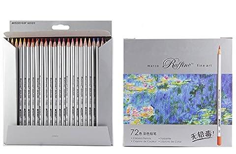 72-color Raffine Marco Fine Art Farbige Bleistifte/Zeichnen Bleistifte für Skizze/SECRET GARDEN Färben Buch (nicht im Lieferumfang enthalten)