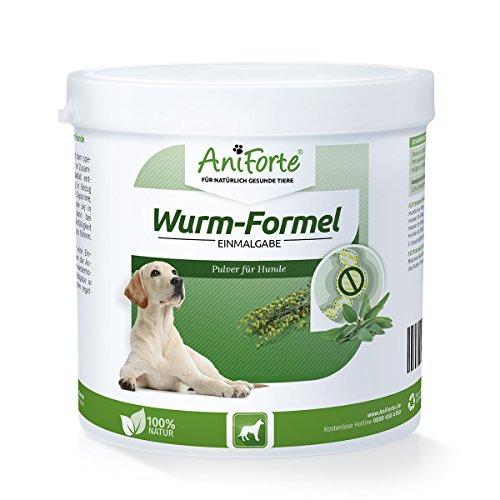 Artikelbild: AniForte Wurm-Formel 250 g für Hunde, Einmalgabe und 100 Prozent natürlich bei und nach chemischer Wurmkur