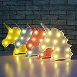 Wuudi - Lámparas de Unicornio 3D para decoración del hogar para niños, diseño de Cabeza de Unicornio