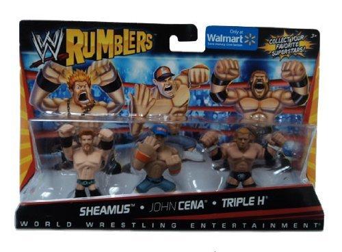 Sheamus John Cena Triple H Figurines Set WWE Rumblers Walmart exclusive