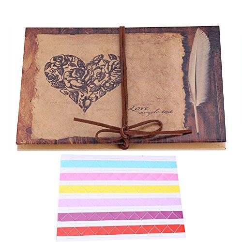 r Unterschriften, handgefertigtes Fotoalbum aus Kraftpapier Scrapbooking Album Notizbuch einzigartiges Geschenk für Geburtstag Jahrestag Hochzeit Graduierung ()