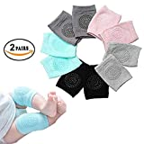 EAYIRA Baby Knee Pads for Crawling, Anti-Slip Padded Stretchable Elastic Cotton Soft Breathable