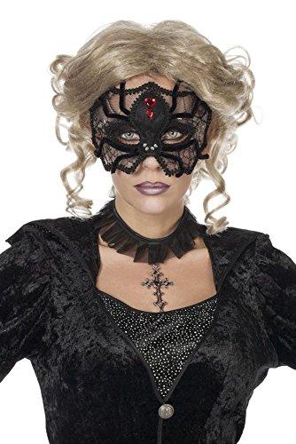 Maske Augenmaske Spinne Hexe Vampirin Halloween Karneval Fasching (Vampirin Hexe)