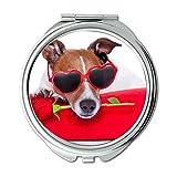 Yanteng Spiegel, Travel Mirror, Animal Bull Terrier Hunde, Taschenspiegel, 1 X 2 X Vergrößerung