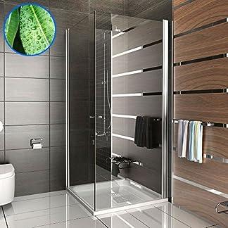 Cabina de ducha esquina ducha Kage 80x 80x195Incluye los arañazos/mecanismo de elevación de vidrio Rectangular esquina. drehtür plegable