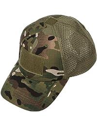 Xidan CFL Gorra Sombrero para Sol de Malla Táctica de Deporte Béisbol Camuflaje Militar para Hombres con España Parche de Bandera…