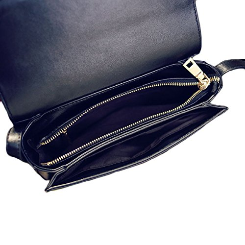 KYFW Womens Fashion Retro Kleine Quadratische Tasche Schulter Messenger Bag Stewardess Bag A