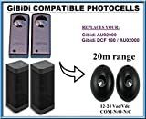 GiBiDi AU02000 / GiBiDi DCF 180 fotocélulas de infrarrojos compatible. Par de universal fotocélulas infrarrojas Sensores de seguridad! Haz de segurida