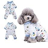 Voiture Pyjama vêtement pour chien confortable Puppy Pyjamsa doux Chien JumpSuit pour homme 100% coton Manteau pour petits chiens et chats par Hongyh