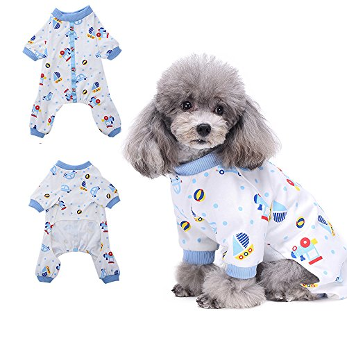 Kostüm Beagle Baby - HongYH Schlafanzug, für Hunde, Welpen, pyjamsa Hunde-Overall, 100% Baumwolle, für kleine Hunde und Katzen